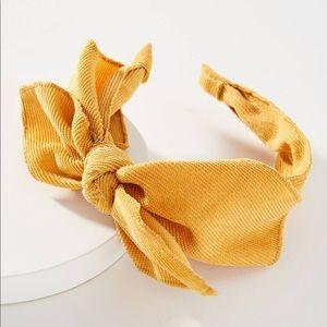 Golden Yellow Rosalie Ribbon Bow Headband